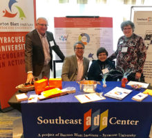 Barry Whaley, Mary Morder and Pam Williamson of the SE ADA Center and Peter Blanck at the State and Local Govt Conference
