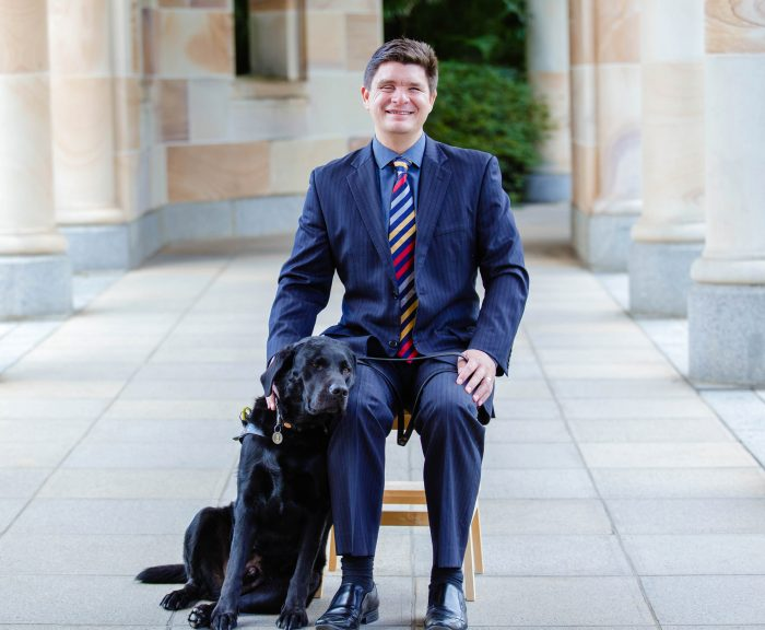 Paul Harpur with his dog
