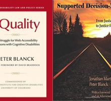 books covers of equality and supported decision making