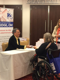 Peter Blanck at book signing event for the 2015 ADA Symposium