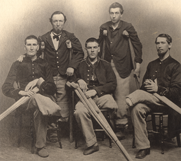 From left to right, A. J. Hutchins of Ohio, Thomas Shields of New York, William McFarland and S. M. Dyer of Wisconsin, and V. N. Higgins of Missouri